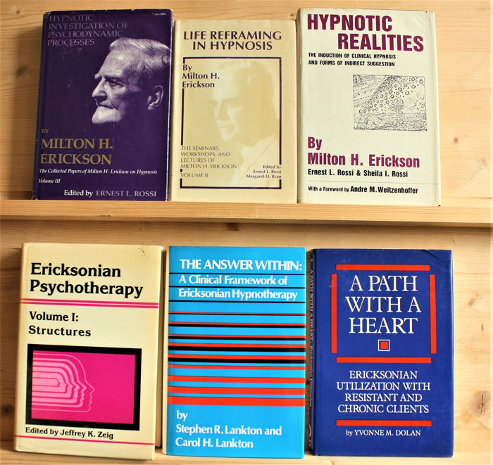 Hypnose - A lot of 10 books about scientific, clinical & Ericksonian hypnosis - 1976/1988