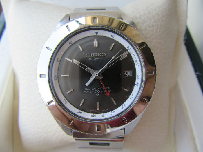 Seiko - Seiko GMT Navigator Timer Automatic Vintage Antique Watch - Ref 6117 8000 Japanese made - Herren - 1970-1979