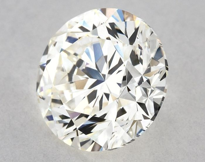 Diamant - 0.90 ct - Brillant, Rond - J - VVS2, Low Reserve Price + Free FedEx Shipping