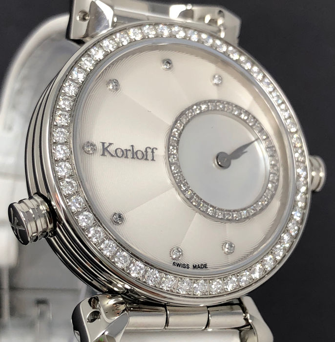 Korloff - Diamonds for 1,16 Carat Reversible 2 Timezones CASSIOPÉE Swiss Made  - LR2/4D - Mujer - BRAND NEW