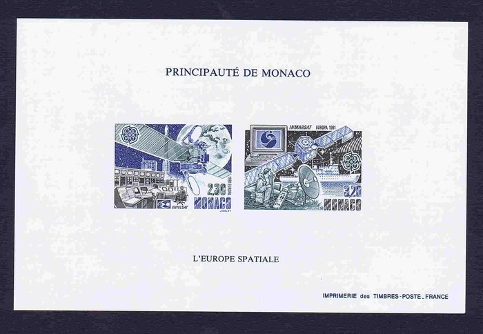 Monaco 1981 - Special block Europa 1981 imperforate - Yvert 14a