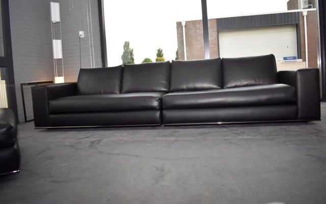 Rodolfo Dordoni - Minotti - leather lounge sofa (3) - Hamilton - Catawiki