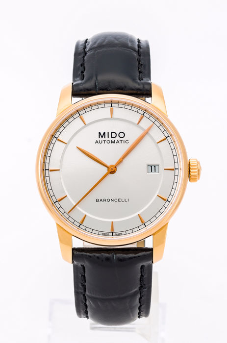 Mido - BARONCELLI Automatic men's watch - M8600.3.104 Pink Gold plated - Férfi - 2011 utáni