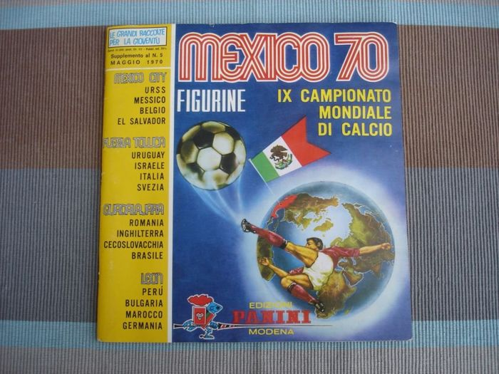Panini - World Cup Football - Album vide Mexico 1970