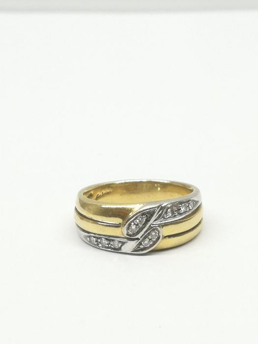 Salvini - 18 kt Gold, Weißgold - Ring - 0.10 ct Diamant