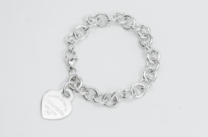 Return to Tiffany Heart Tag Charm Bracelet Silber - Armband