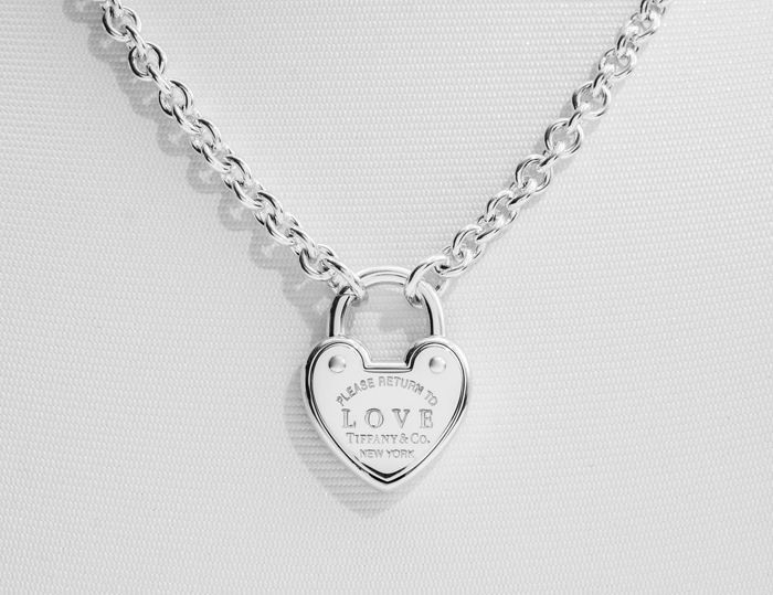 Return to Tiffany Love Lock Necklace  Silver - Halsband