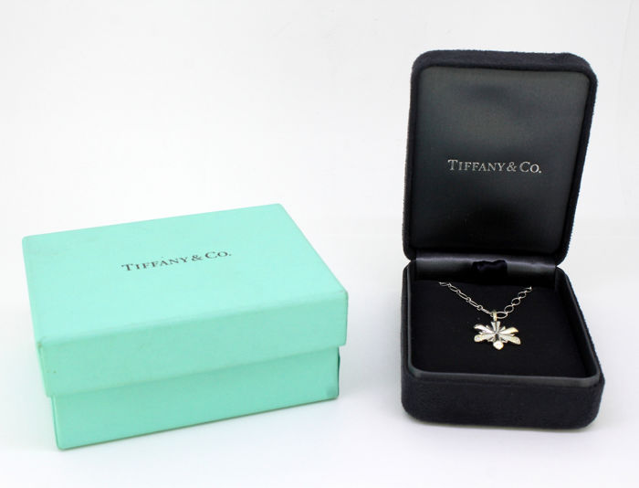 Tiffany - 18 kt. White gold - Necklace with pendant