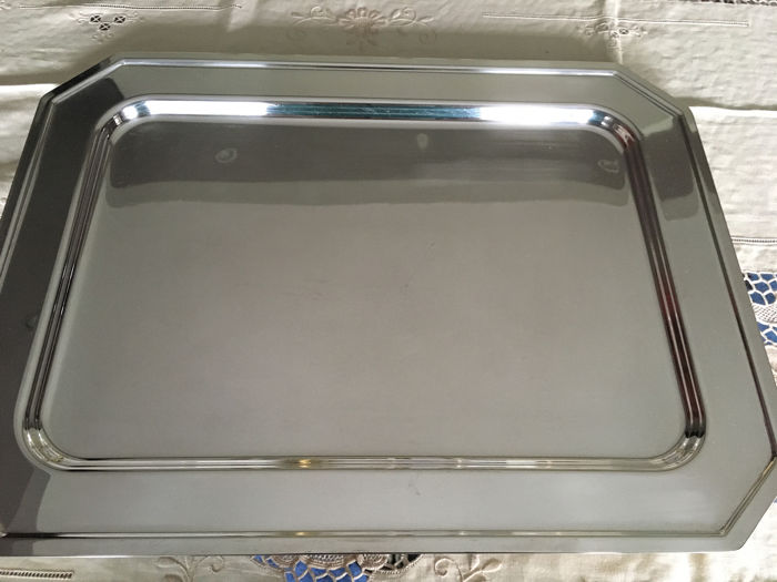 rectangular tray - Silver PLATED Brass