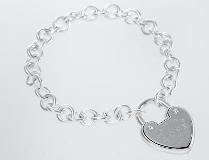 Return to Tiffany Love Lock Bracelet 银 - 手镯