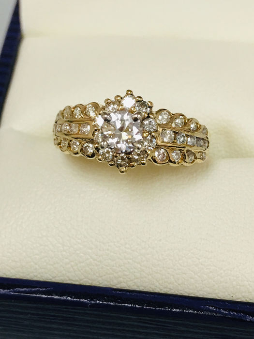 18 kt Gelbgold - Ring - 0.25 ct Diamant - Diamanten