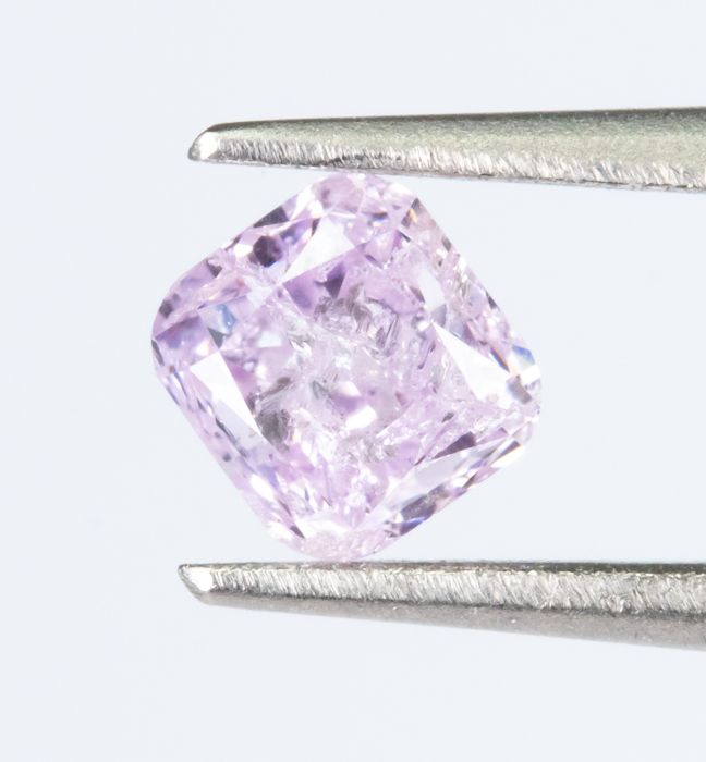 Diamond - 0.27 ct - Natural Fancy INTENSE Purplish Pink - I2  *NO RESERVE*