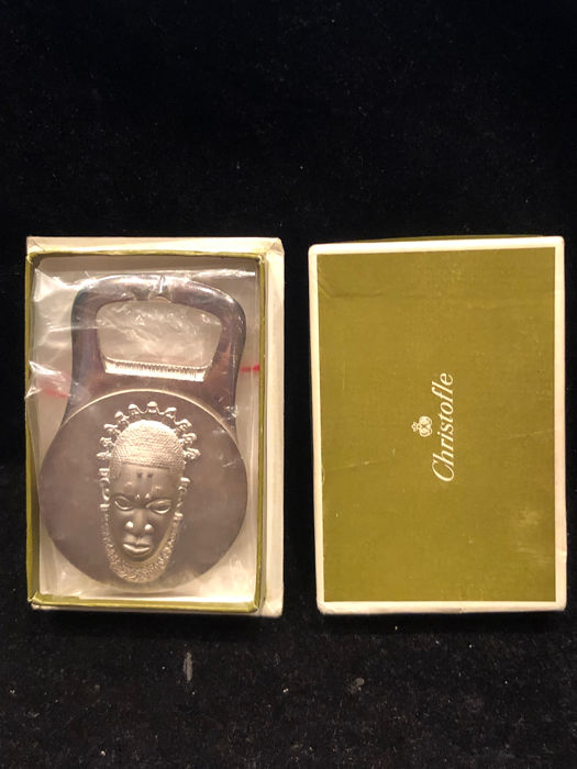 Rare CHRISTOFLE African bottle opener engraved with Tribal face époque 1970 - Christofle