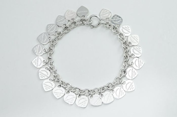 Return to Tiffany Multi heart Tag Bracelet Silver - Bracelet