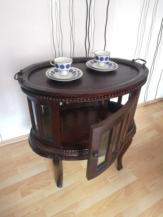 SIT - Round glass cabinet, tea cupboard, display case, rarity, colonial style - Baroque - Wood