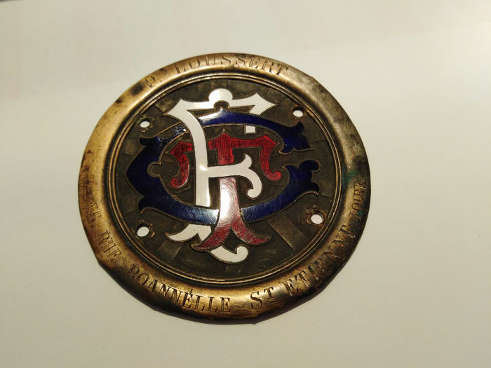 Insignia - ACF TCF Touring Automobile Club France P. Loussert Plakette Car Badge Rally  - 1900-1940
