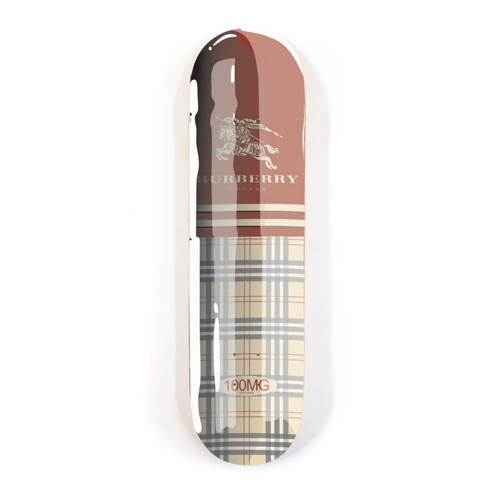Denial - Fashion Addict: Burberry  - Skate Deck