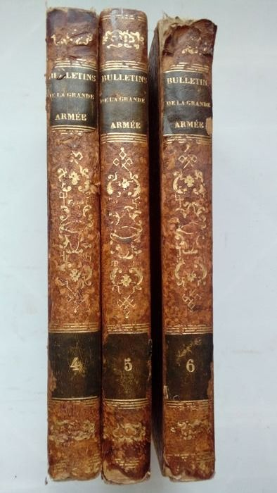 France - The Bulletins of the Great Army Volumes IV, V and VI + Historical Gallery of the Bulletins of the Great - Book - 1843