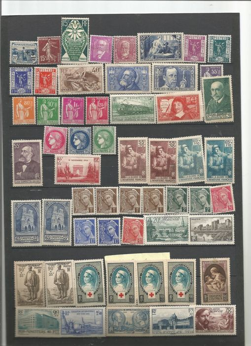 France 1922/1943 - Lot of stamps from France in mint condition, from 1922 to 1943, N°164/552 - Yvert 552