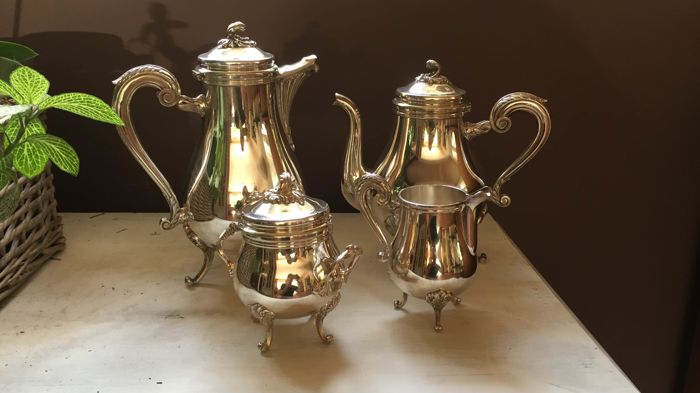 christofle  - christofle  - Coffee service (4) - Silver plated