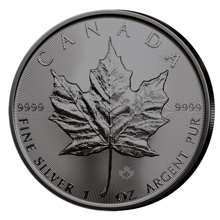 Canada - 5 Dollar 2019 - Maple Leaf - veredelt mit Ruthenium F- 1 oz - Silver
