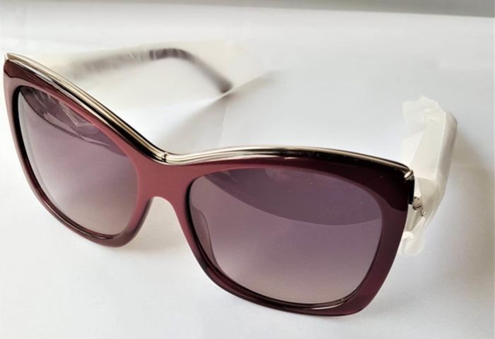 Swarovski  - Butterfly Burgundy Crystals Sunglasses