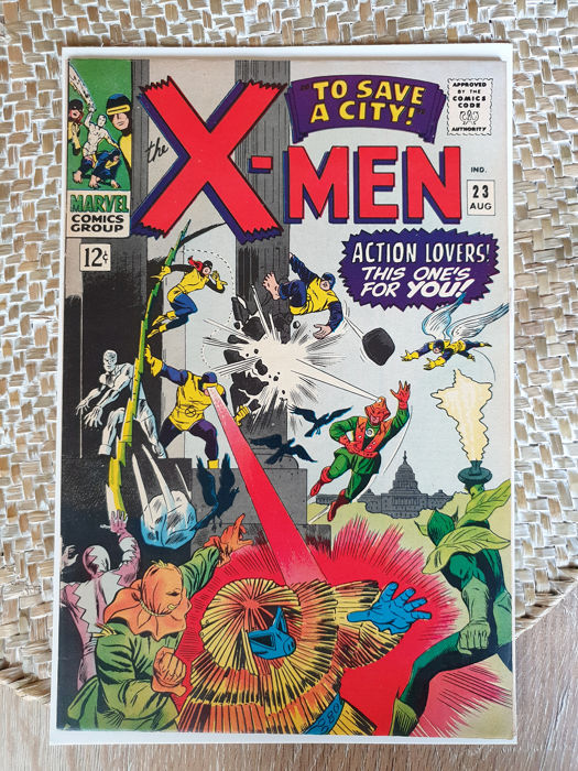 """X-Men VOL 1 #23 - """"To Save a City"""" - Softcover - Eerste druk - (1966)"""