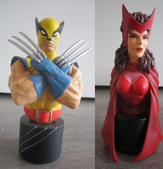 X-Men Wolverine 25th anniversary statue and Scarlet Witch busts - Bowen Designs - Primera edición - (1999/2000)