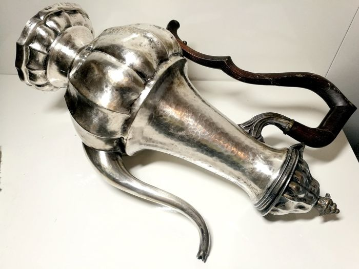 Large Turkish coffee maker - .800 silver - Italy - mid 20th century
