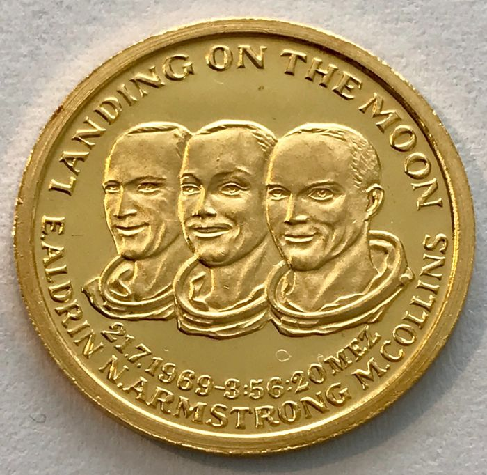 France - 1969 - Landing on the Moon  - 1/10 oz  - Gold
