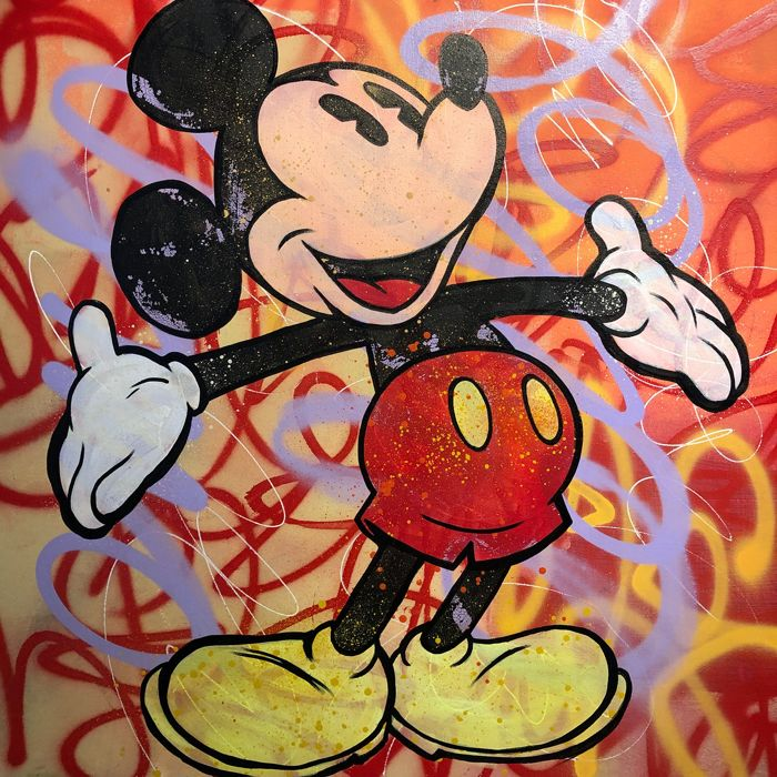 Dillon Boy - Original Mickey Mouse Graffiti Street Art