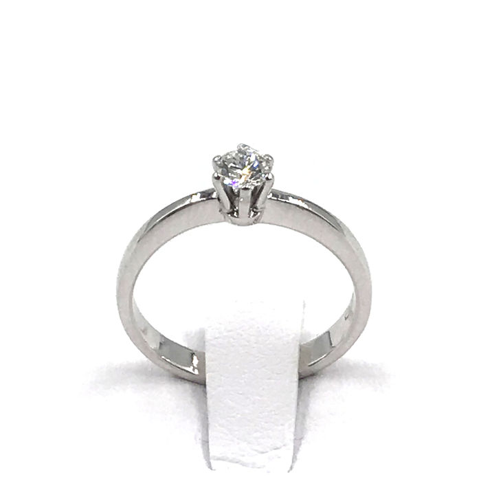 18 karaat Witgoud - Ring - 0.20 ct Diamant