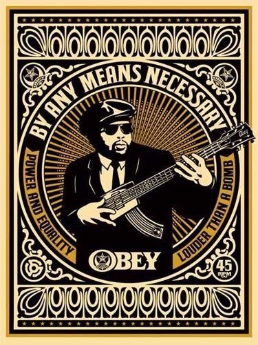 Shepard Fairey (OBEY) - By Any Means Necessary (Gold)