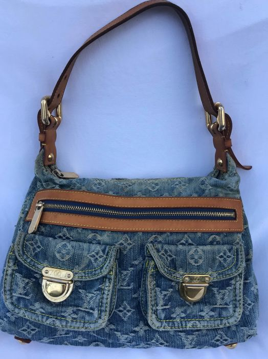 Louis Vuitton - Blue Denim Baggy PM Monogram Handbag
