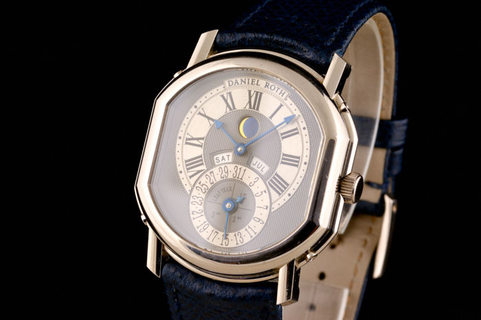 Daniel Roth - Perpetual Calendar Moon Phase 18K White Gold - 118.L.60.011 - Homme - 2000-2010