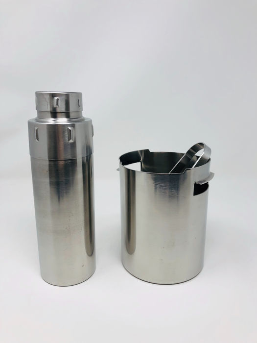 Gio Ponti - Calderoni Fratelli, Alessi - Ice Bucket, Ice Clamp and Shaker - Steel (stainless)