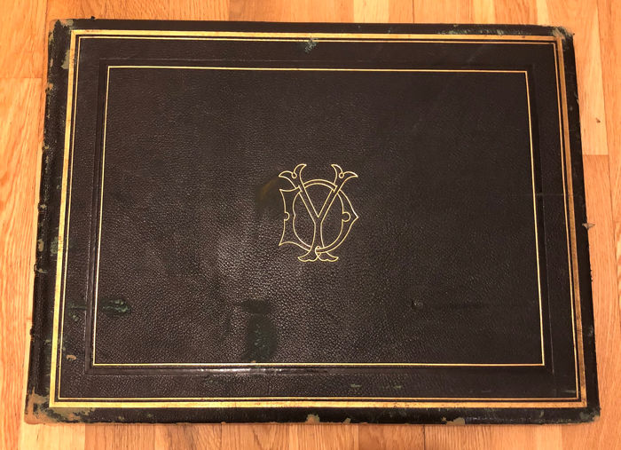 Large leather album - 100s of photographs  - The Grand Tour, 1870's