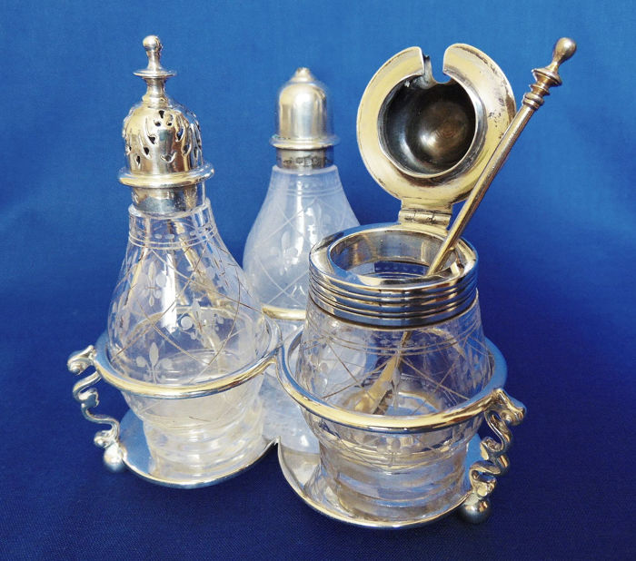 Victorian Cruet stand, George Fox, London  - Sterling Silver  - George Fox, London  - England - 1873
