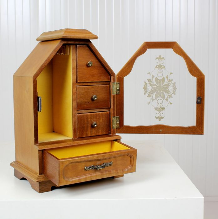 Jewelery cabinet - Glass, Wood