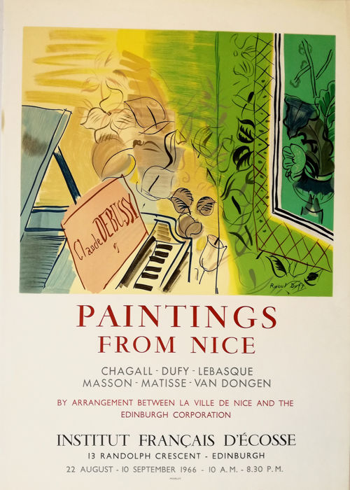 Raoul Dufy - Paintings from Nice - 1966