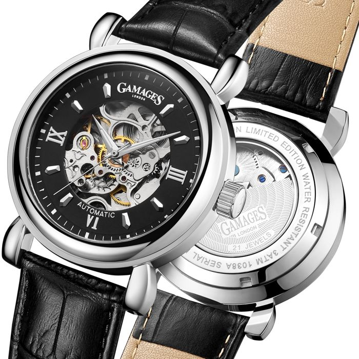 Gamages of London Watches - Limited Edition Hand Assembled Skeleton Automatic Steel - GA0003 - Herren - 2011-heute