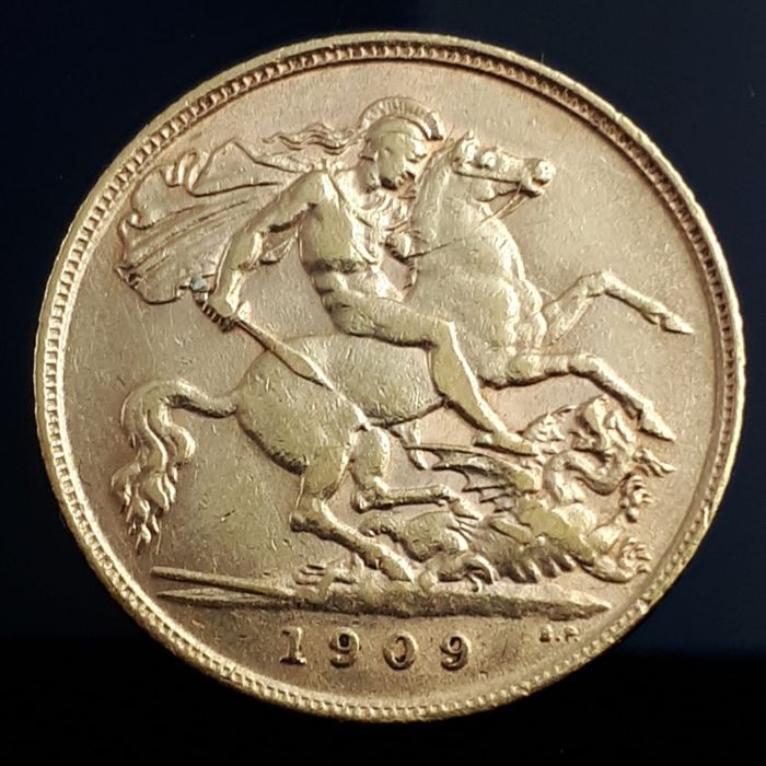 Regno Unito - ½ Sovereign 1909 Edward VII  - Oro