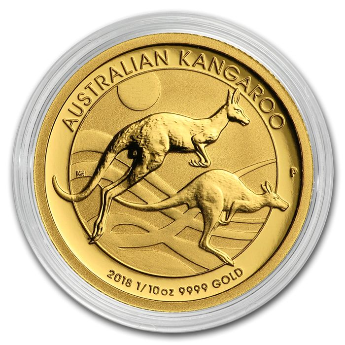 Australia - 15  Dollars 2018 Perth Mint Känguru - 1/10 oz  - Gold