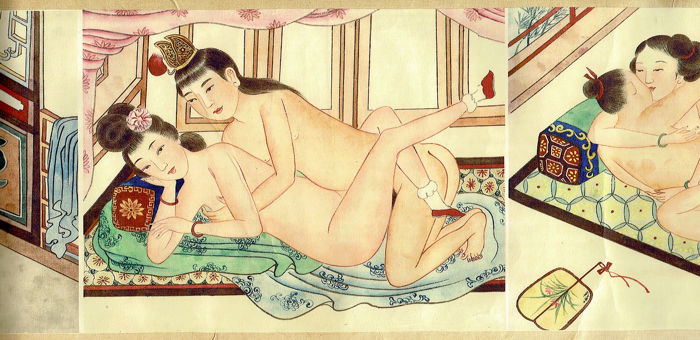Spring Palace. [Roll with 8 Chinese erotic scenes.] - 1930