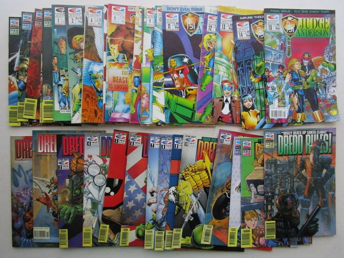 Judge Anderson / Dredd Rules ! - Judge Anderson 1 t/m 15 - - Dredd Rules ! 1 t/m 20 - Stapled - First edition - (1990/1993)