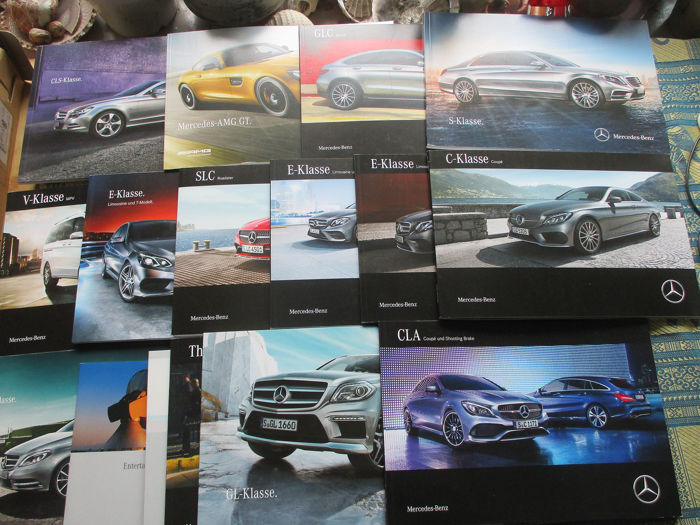 Brochures / catalogues - Mercedes-Benz - Inclusief AMG GT/CLS/GLC/S-class/SLC, dikke folders - 1999-2015