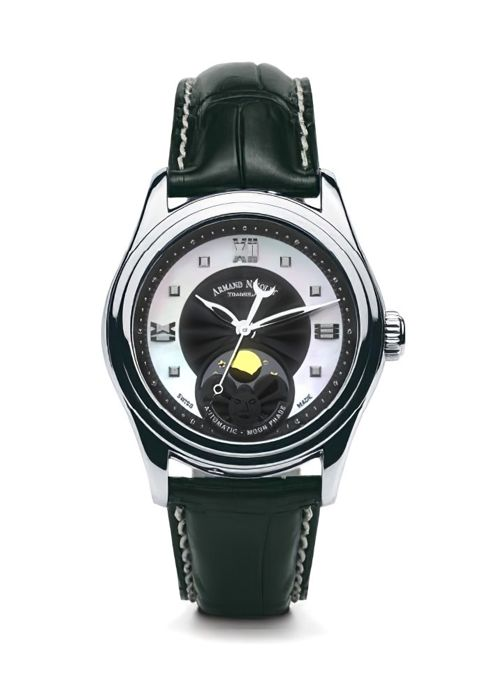 Armand Nicolet - M03-2 Damenuhr Mondphase Automatik - A153AAA-NN-P882NR8 - from official retailer - Women - 2011-present