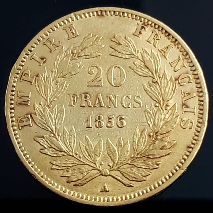 France - 20 Francs 1856 A Napoleon III - Gold