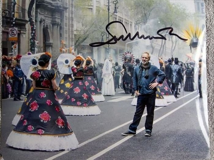 """James Bond - 007 -  On set photograph signed by """"Skyfall"""" director Sam Mendes - Autograph"""
