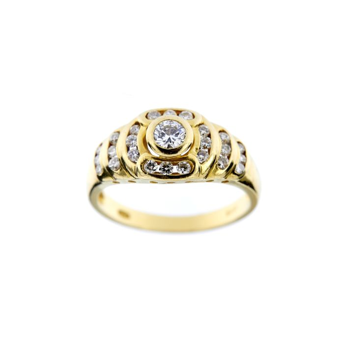Made in Italy - 18 kt Gelbgold - Ring - 0.68 ct Diamant